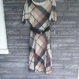 Sandra Darren plaid soft dress size 10 BNWT